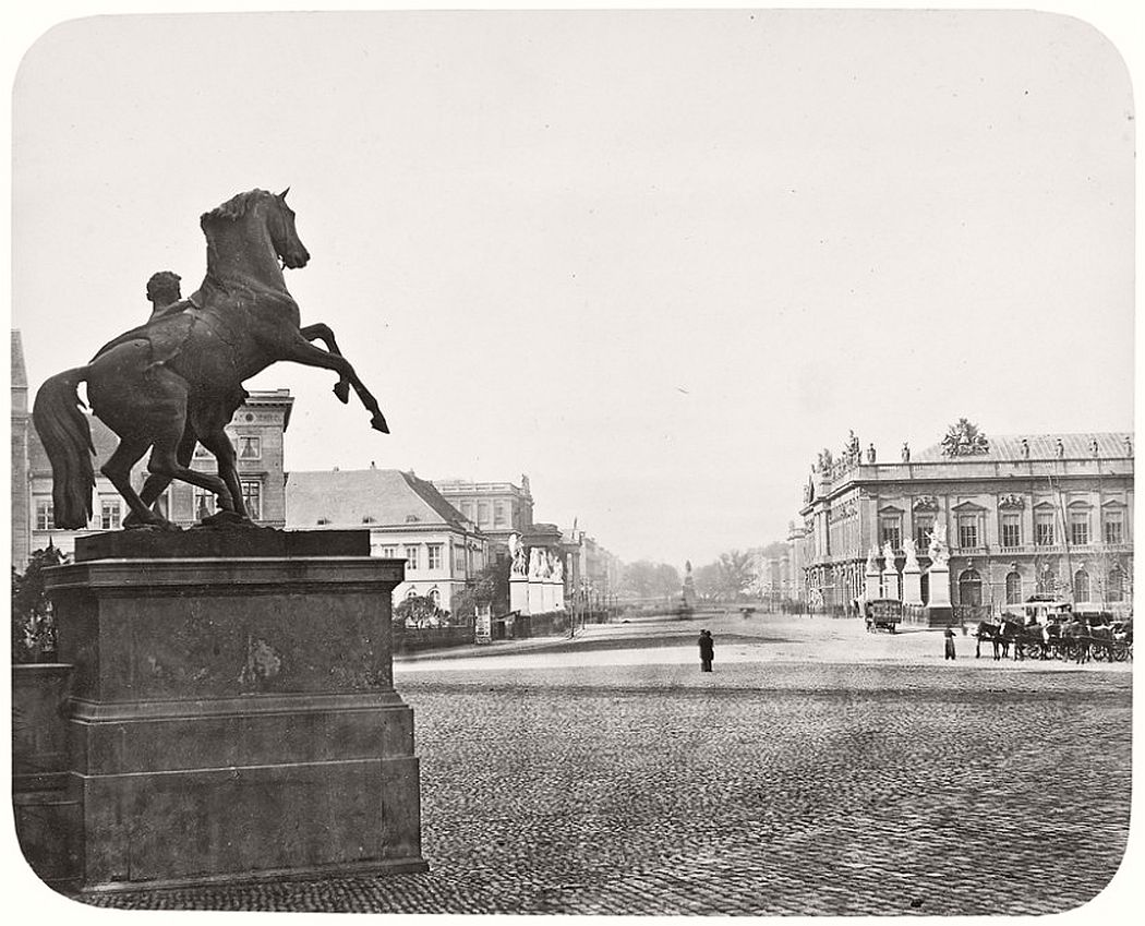 Leopold Ahrendts  Unter den Linden. Seen from Royal Castle, 1855-59