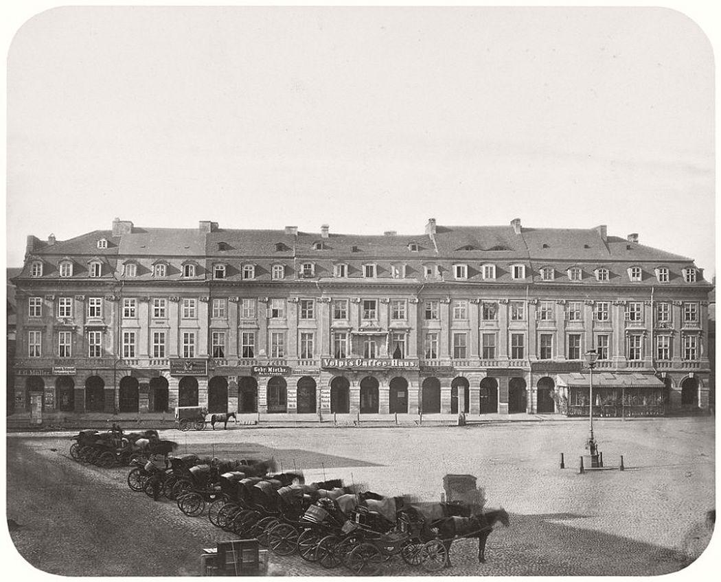 Leopold Ahrendts  Square An der Stechbahn, around 1863