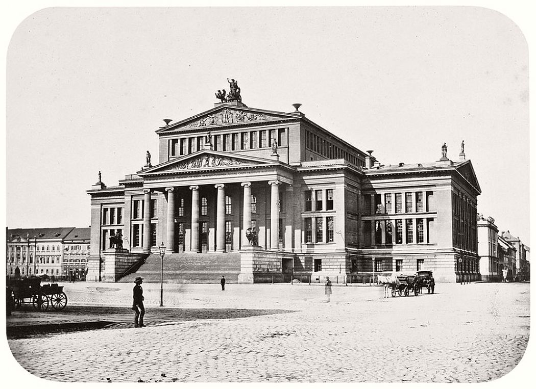 Leopold Ahrendts  Theater at Gendarmenmarkt, around 1856