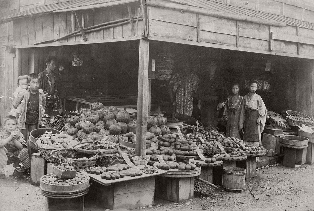 A greengrocer, ca. 1880