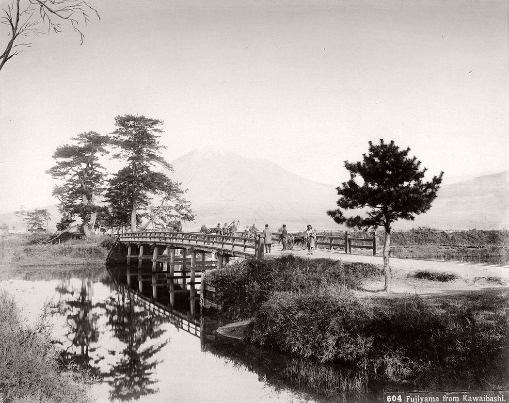 Mount Fuji from Kawaibashi, ca. 1870