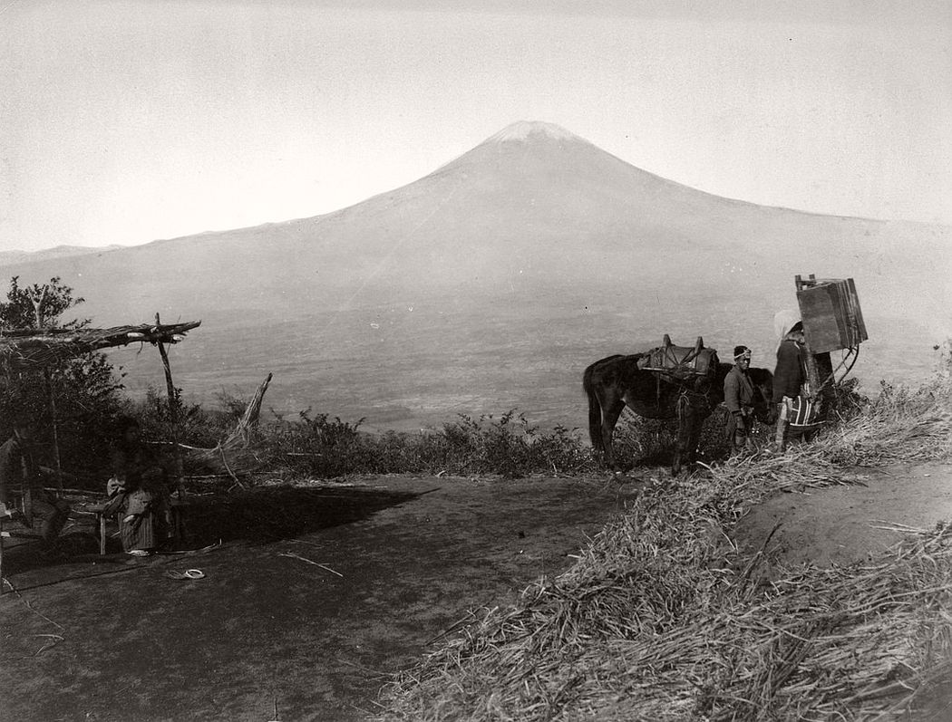 Mount Fuji seen from Otome pass, ca. 1890