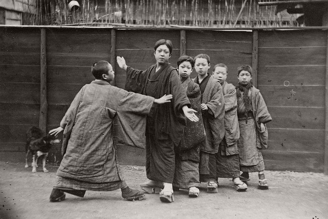 Children playing kotoro, ca. 1890