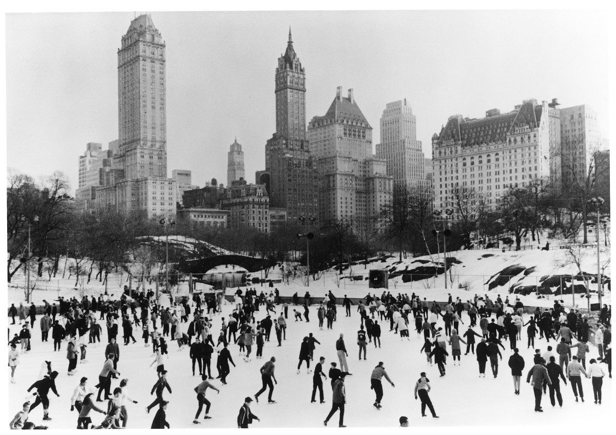 Ice Skaters, Central Park, New York, 1960