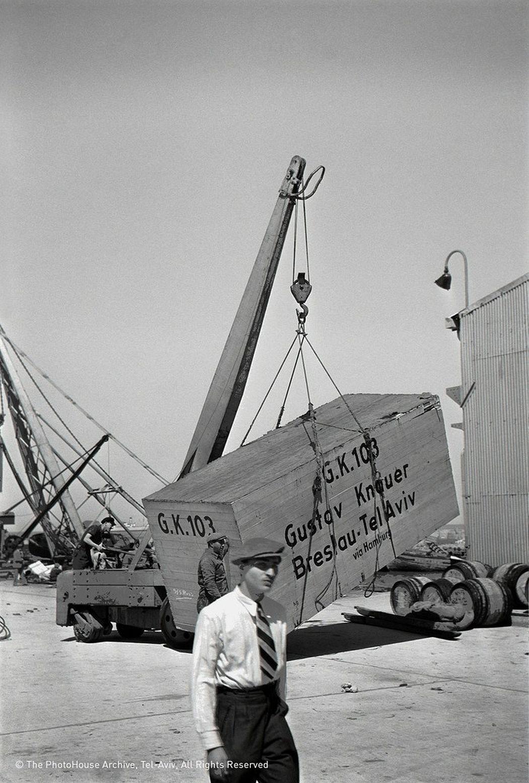 Rudi Weissenstein  Port, Tel Aviv, 1939
