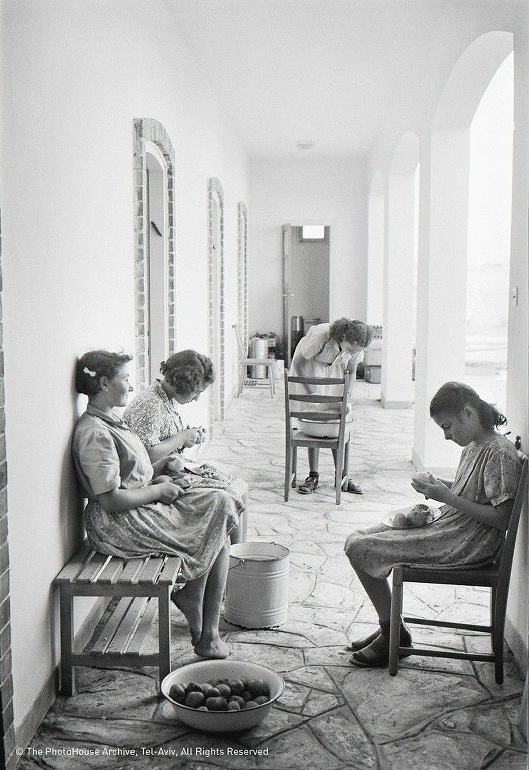 A Room in Kfar Batya for Child Survivors of the Holocaust, 1947