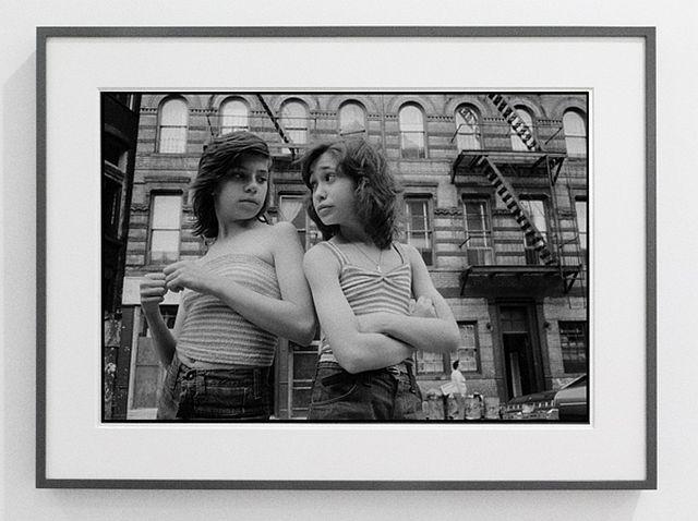 Susan Meiselas Dee and Lisa on Mott Street 1976