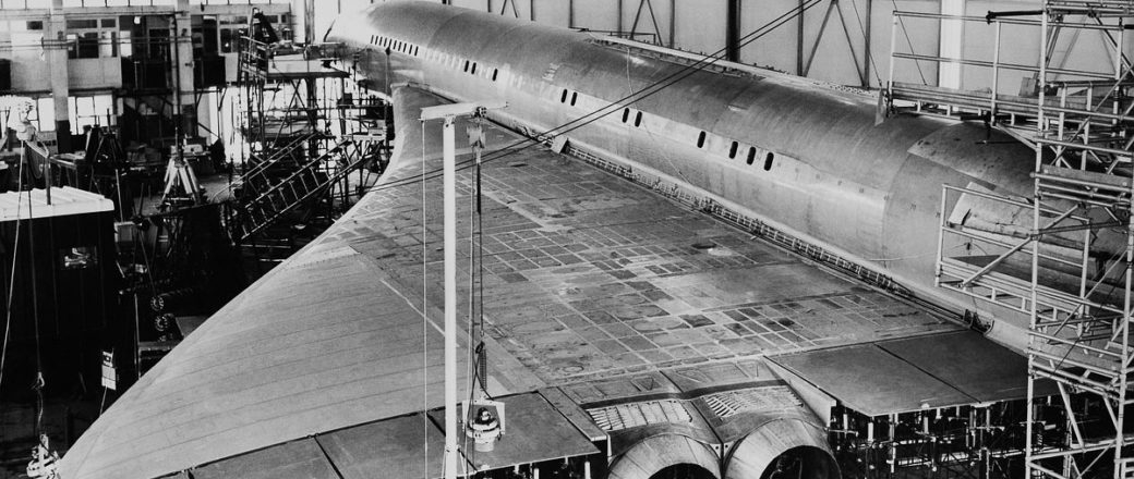 Vintage: Concorde first supersonic passenger jet (1960s)