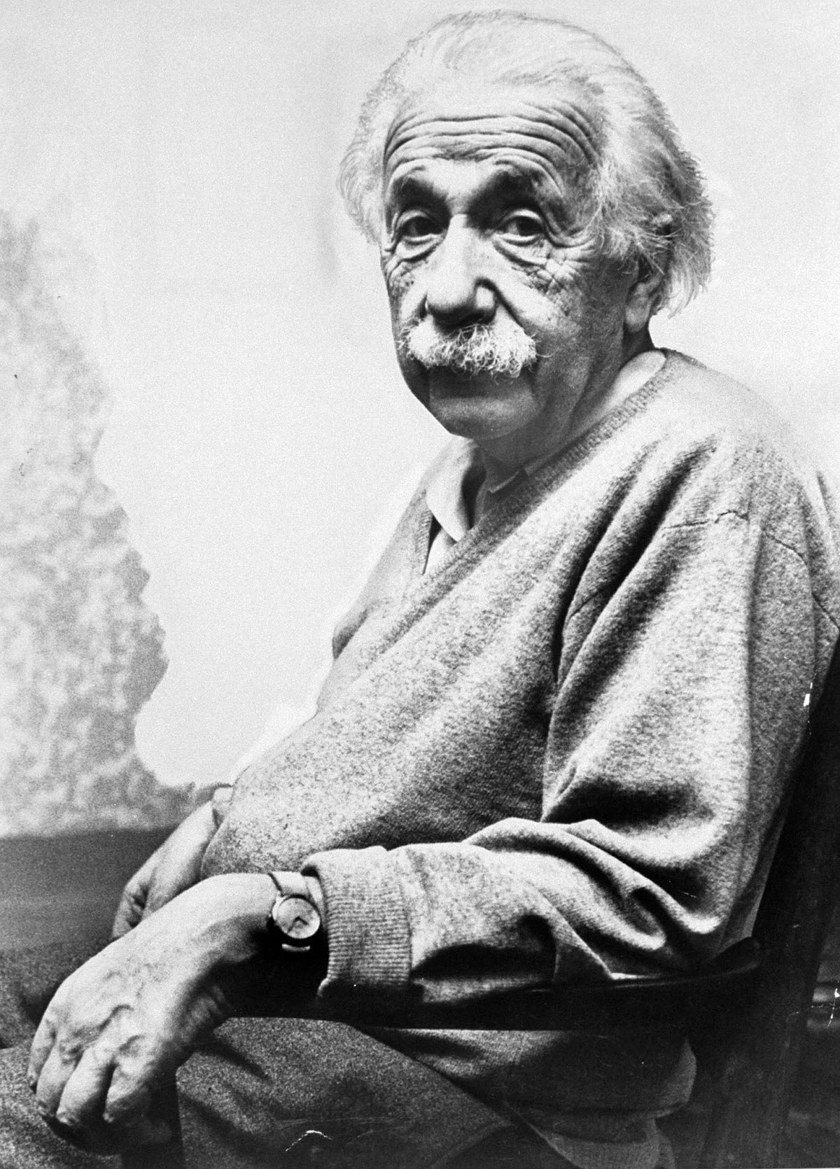 A seated portrait of Albert Einstein, Princeton, NJ, on his birthday, March 14, 1953. (Esther Bubley—The LIFE Images Collection/Getty Images)