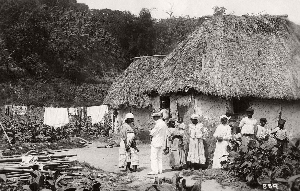 People at country houses in Jamaica, ca. 1890s