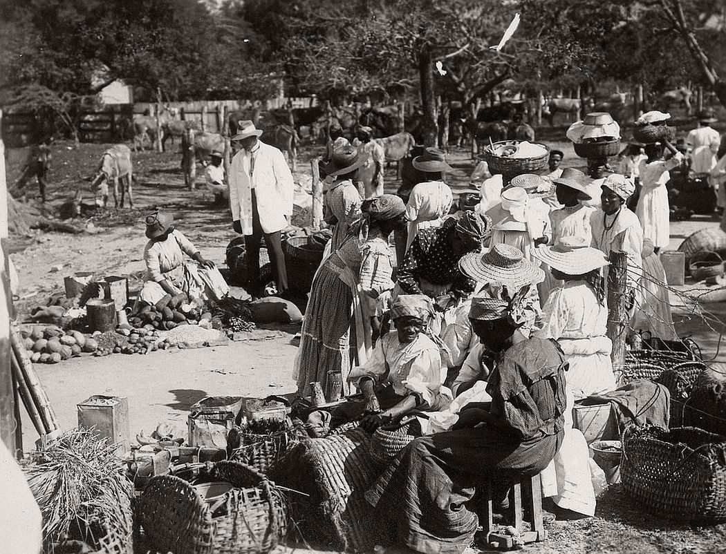 Country market, Jamaica, ca. 1890s