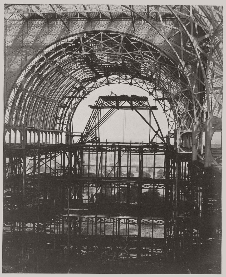 Progress of the Crystal Palace at Sydenham, 1854