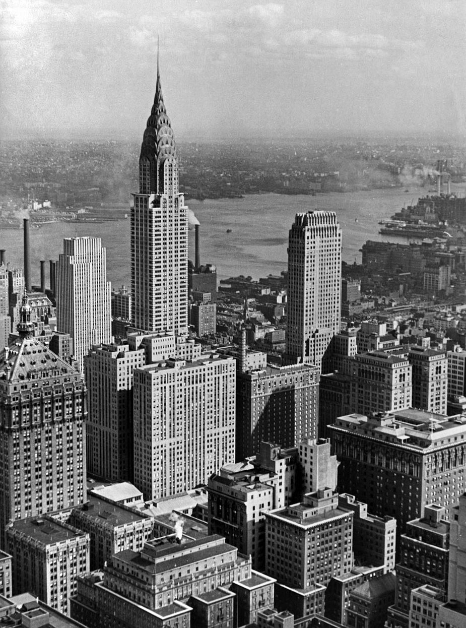 View from the Empire State Building, Looking onto the Chrysler Building, New York City, 1931 © Fritz Block Estate Archive, Stockholm/Hamburg