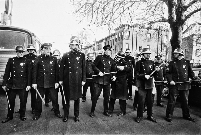 Police Line at Riot, Brooklyn, 1964