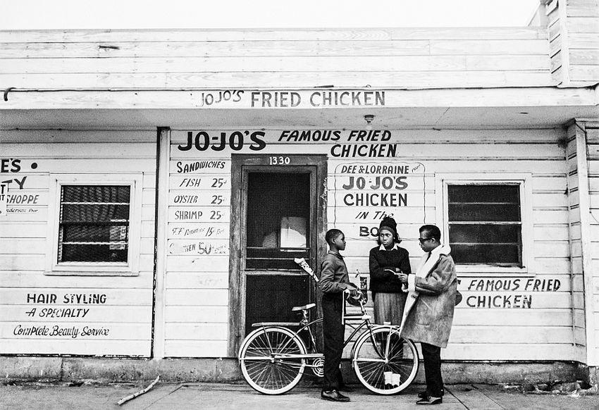 James Baldwin, Jojo's Fried Chicken, New Orleans, 1963