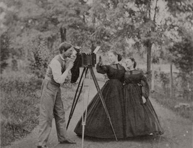 Vintage: 19th Century Photographers with their Cameras