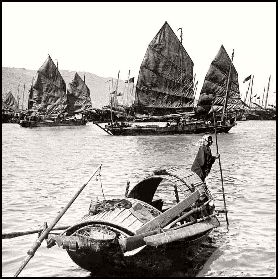 Vintage: Boats of Old China (Junks) in the 1900s