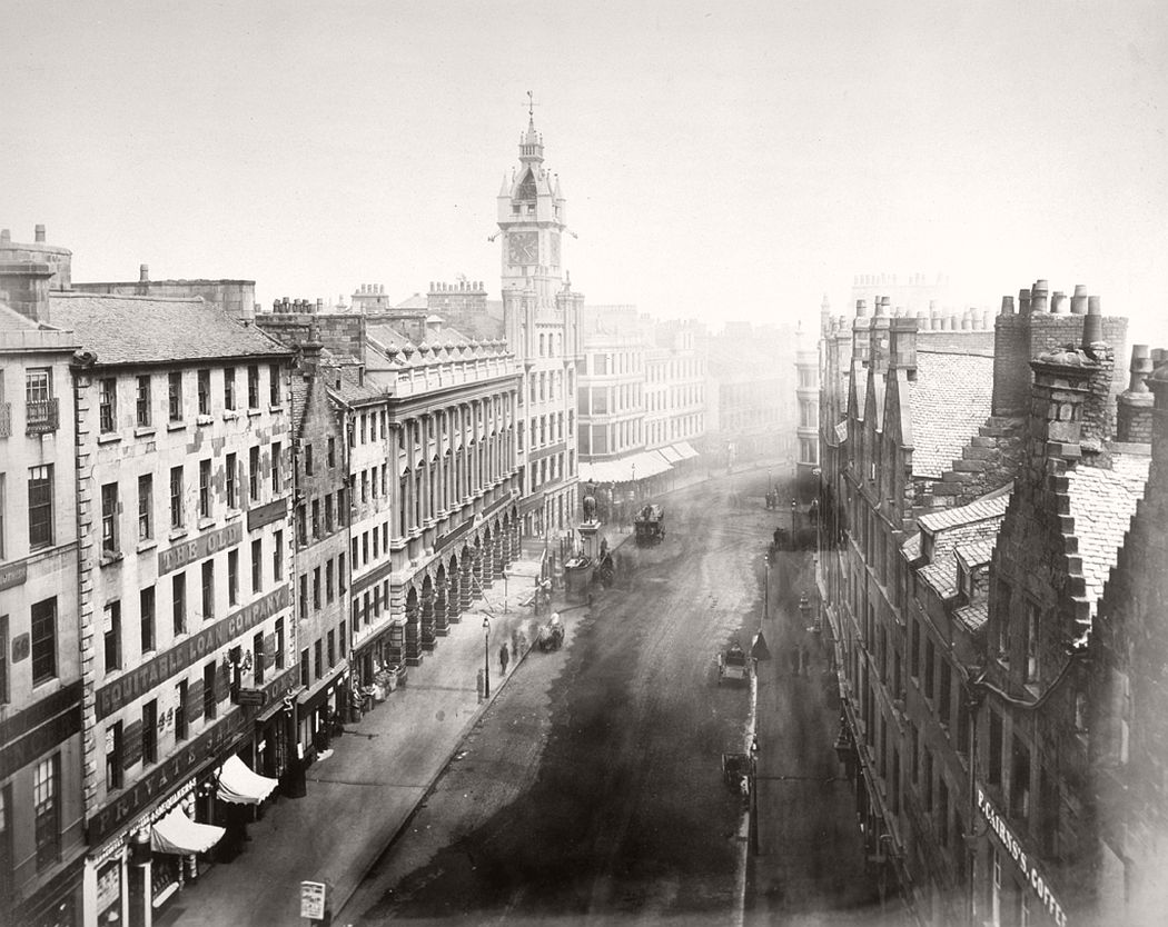 Trongate from Tron Steeple, Glasgow, 1868-71