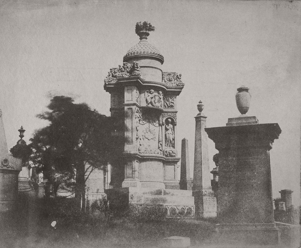 Monument in Glasgow Necropolis, 1852