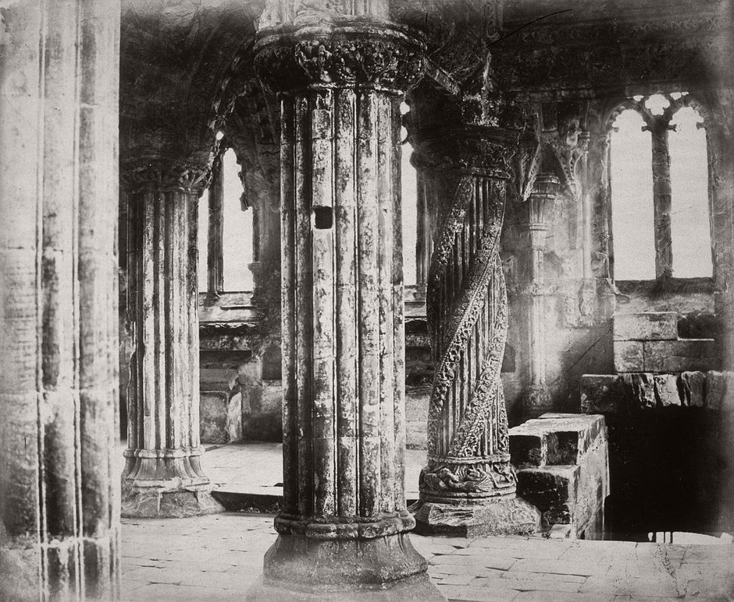 Rosslyn Chapel Apprentice Pillar, Edinburgh, 1860