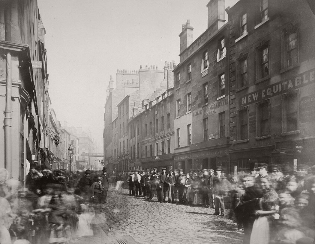 Saltmarket from Bridgegate, Glasgow, 1868-71