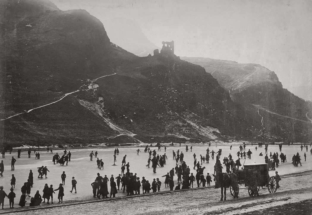 Skating, St Margaret's Loch, Edinburgh, ca. 1870s