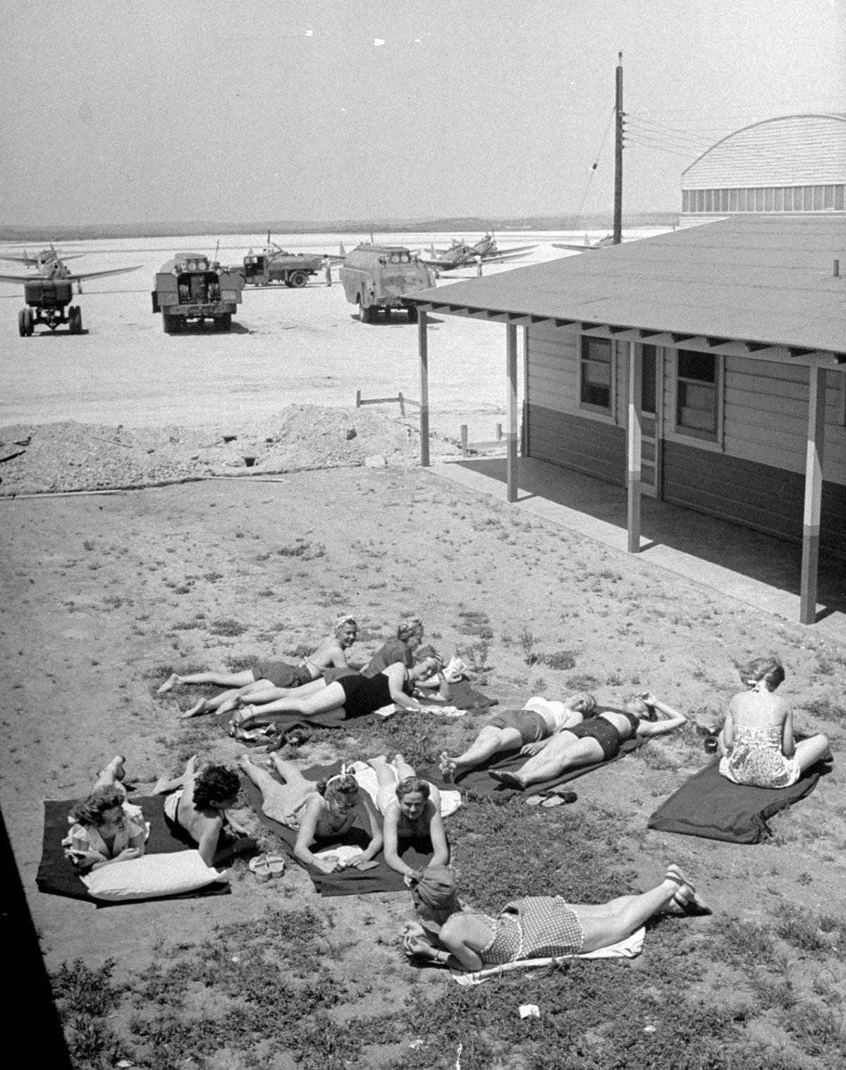 A Sunday sunbath for Avenger pilots.