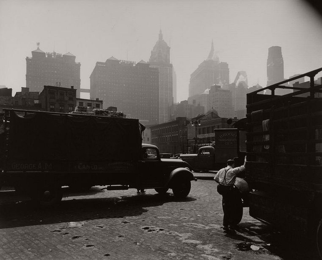 City Vista, West Street, looking east, Manhattan, August 12, 1938