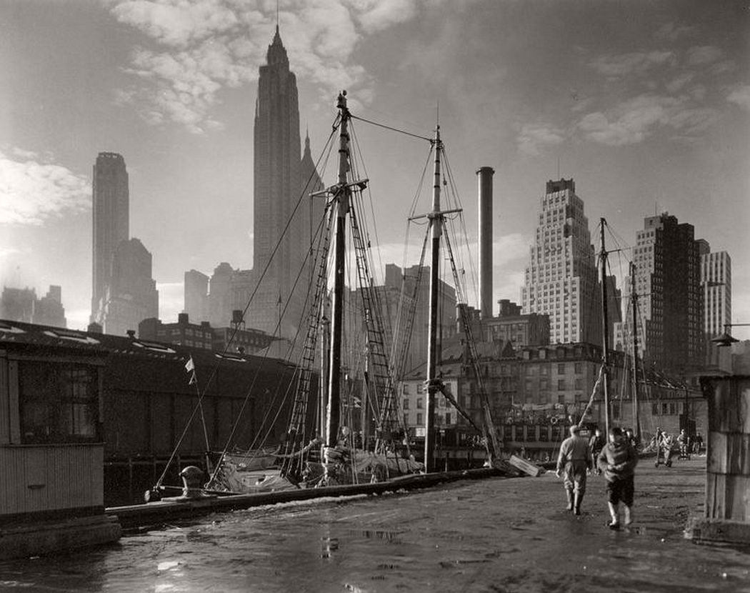 Fulton Street Dock, Manhattan, November 26, 1935