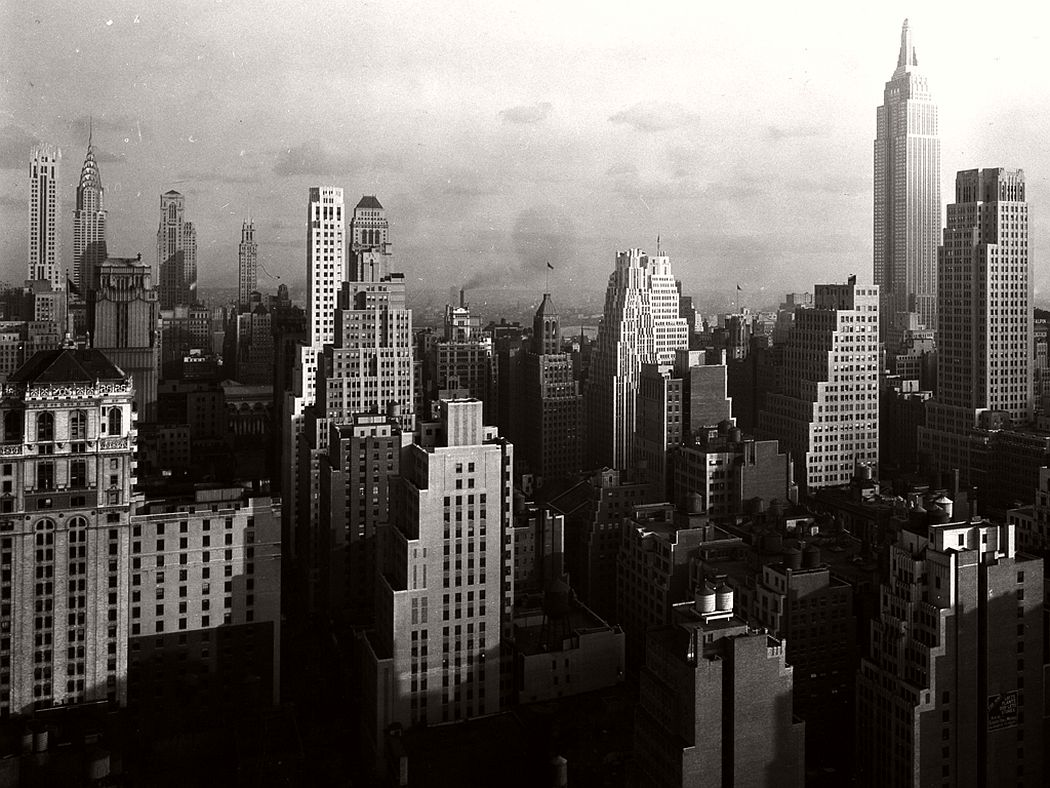 Midtown Manhattan view from McGraw-Hill building, October 9, 1931