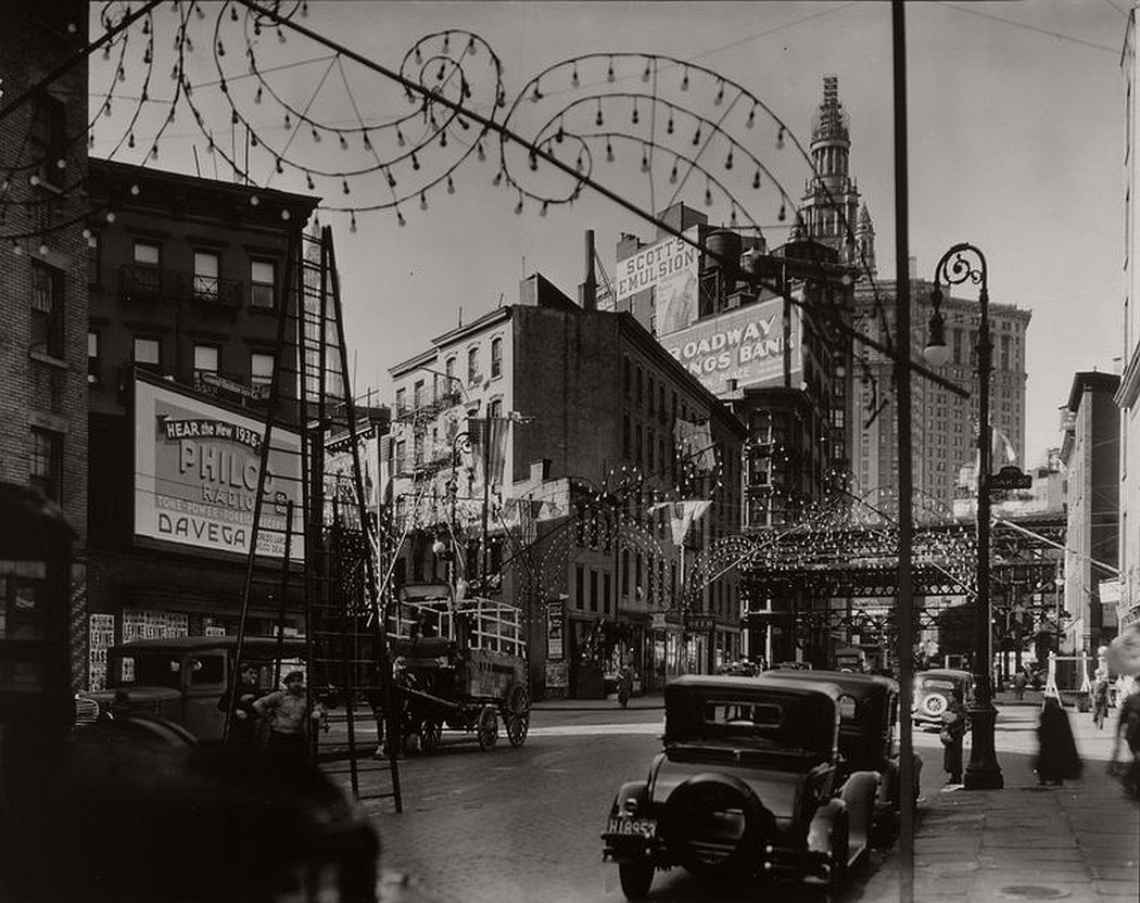 Oak and New Chambers Streets, Manhattan, October 28, 1935