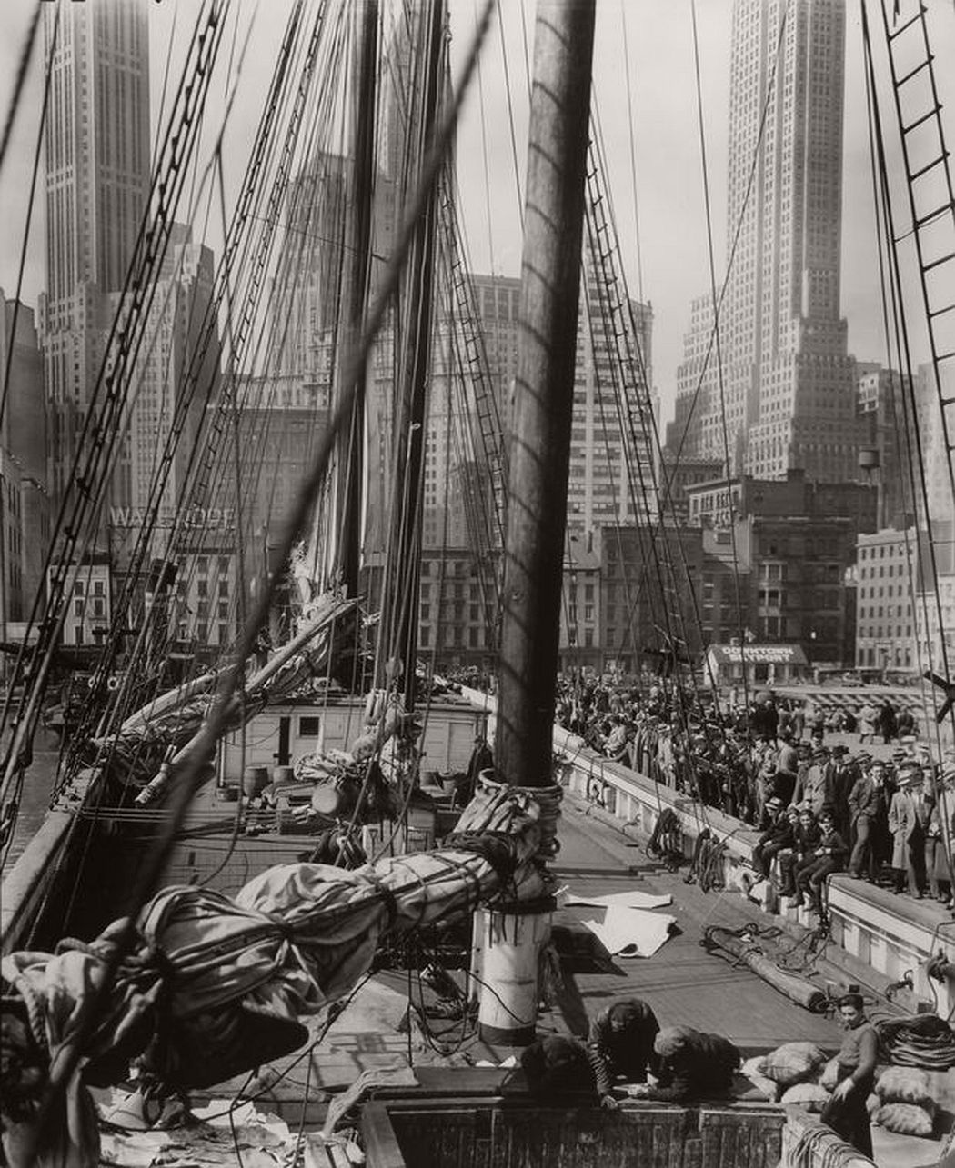 Pier 11 or 12, East River, Manhattan, April 09, 1936