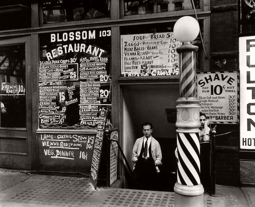 Blossom Restaurant, 103 Bowery, Manhattan, October 03, 1935