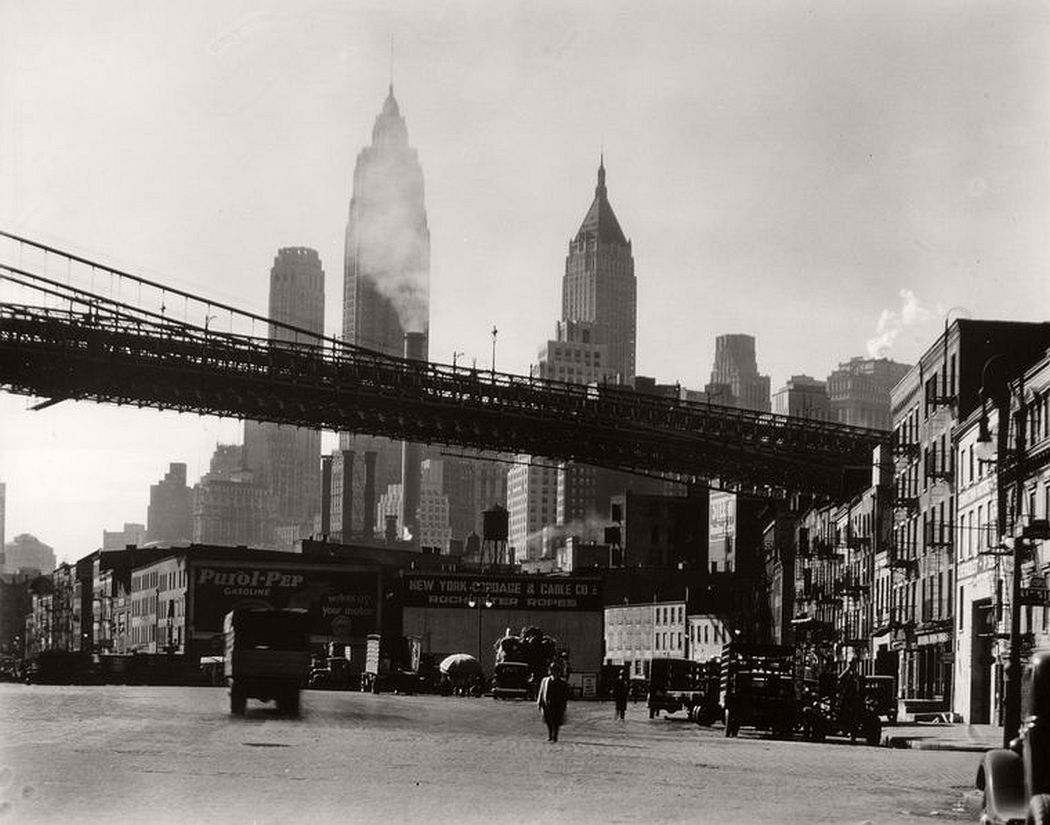 Waterfront, South Street, Manhattan, October 15, 1935