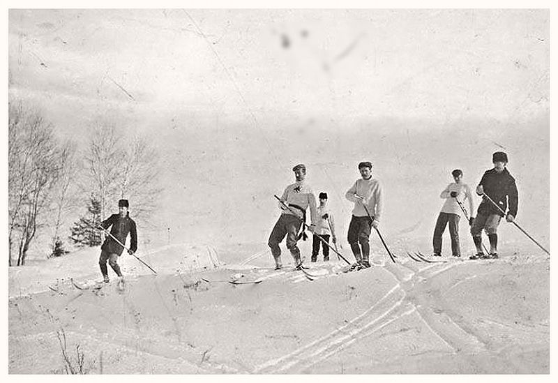 Skiing in Rockcliffe Park, 1895