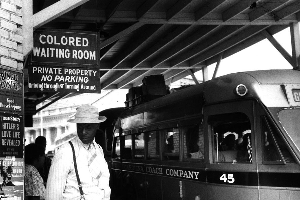 The bus station in Durham, North Carolina, May 1940. (Photo by Reuters/Library of Congress)
