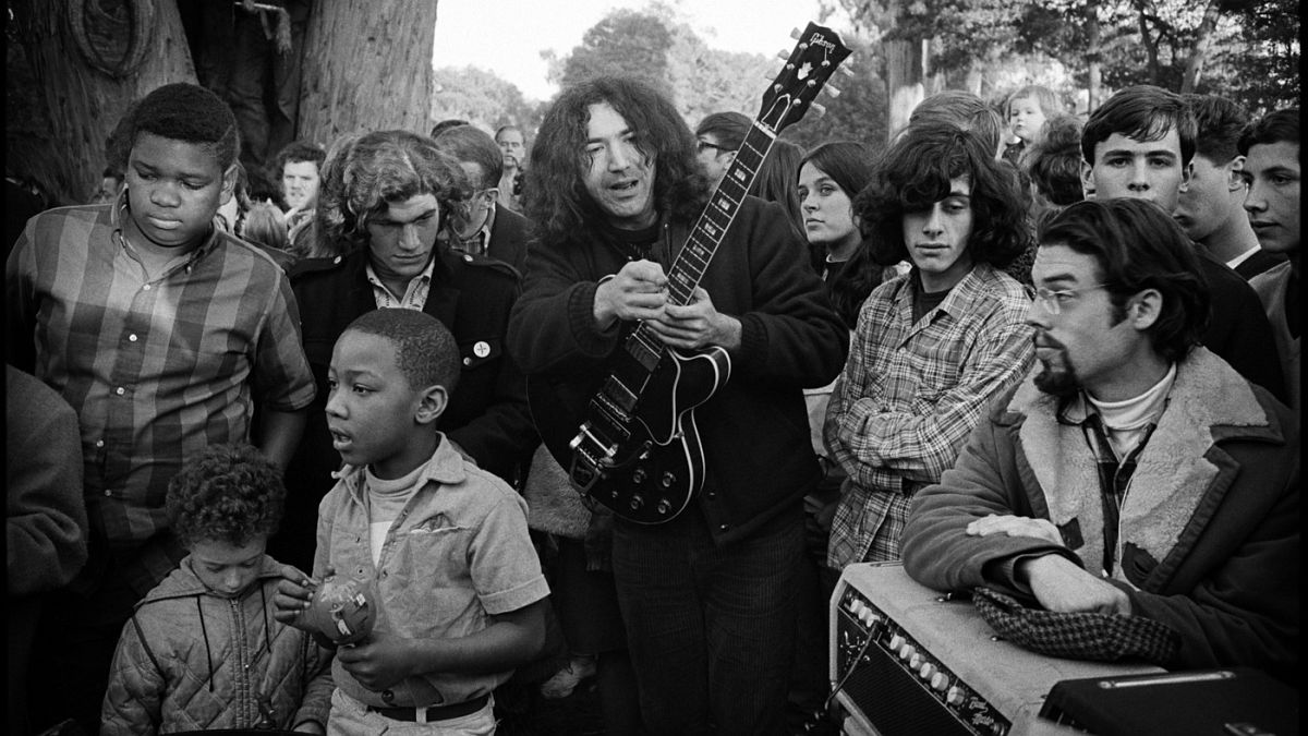The Grateful Dead perform in the Panhandle, 1967.