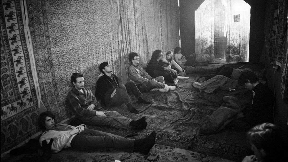 A drug den behind a store front on Haight Street in 1967.