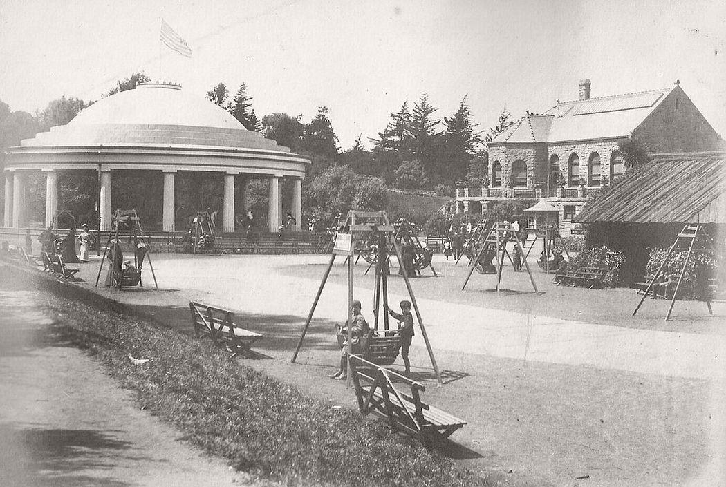 Playground in San Francisco around 1900