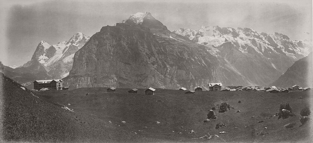 Panorama from Mürren, 1865.