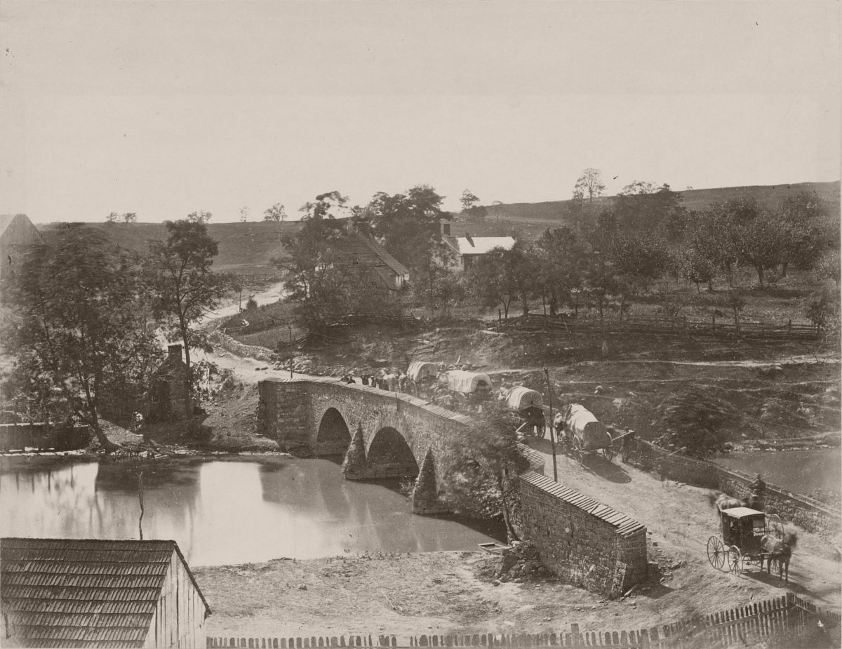 Middle bridge over Antietam Creek, September 1862.