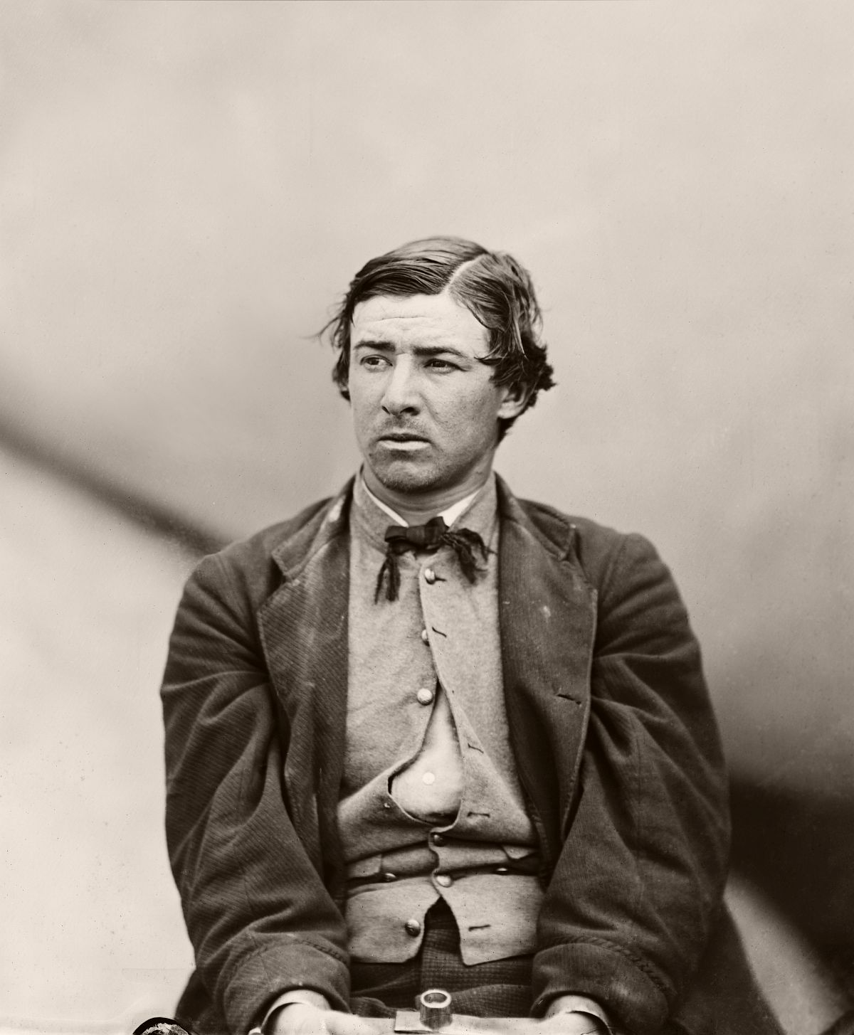 David Herold, conspirator to assassination, after arrest, 1865.