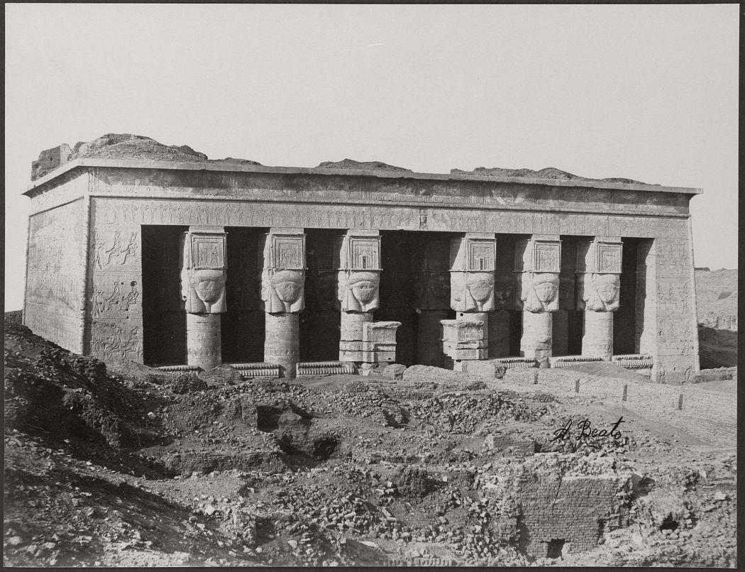 Temple a Denderah, Egypt, circa 1870