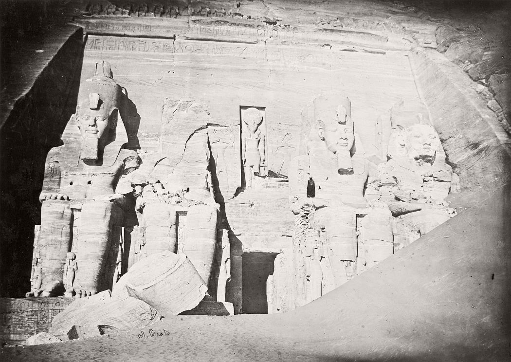 Temple Of Abu Simbel, Egypt, circa 1870