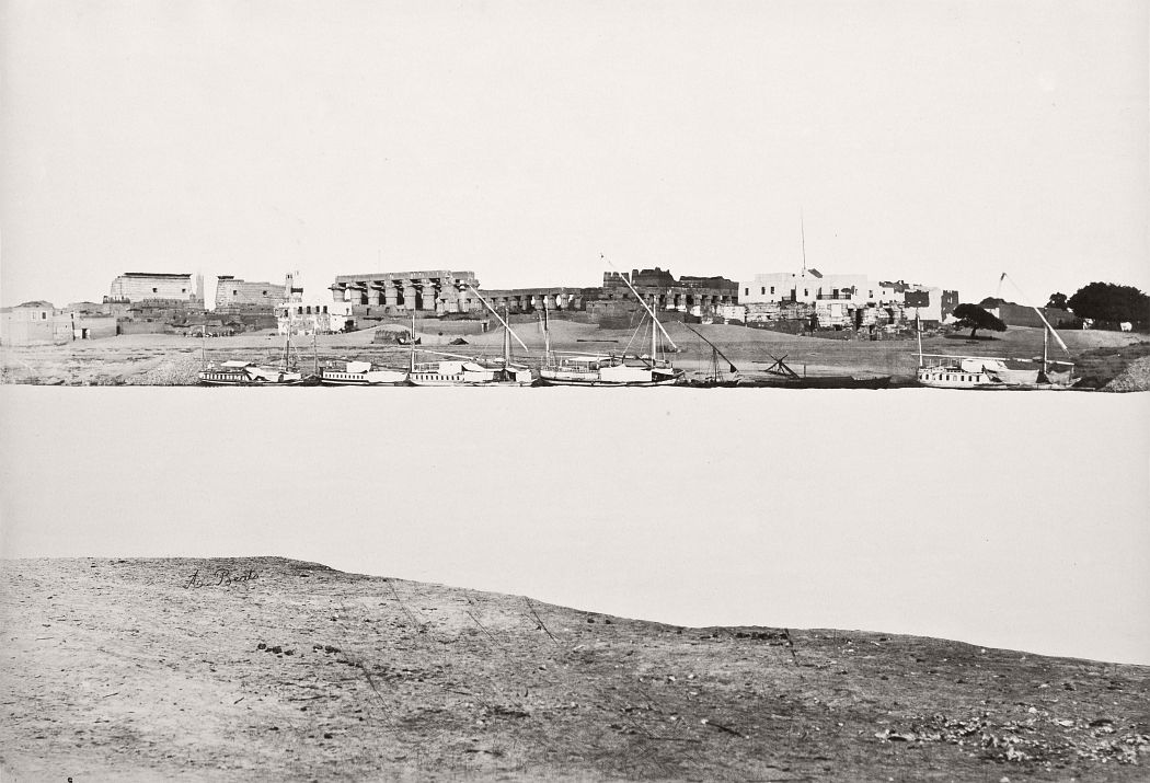 Town Of Luxor, Egypt, circa 1870