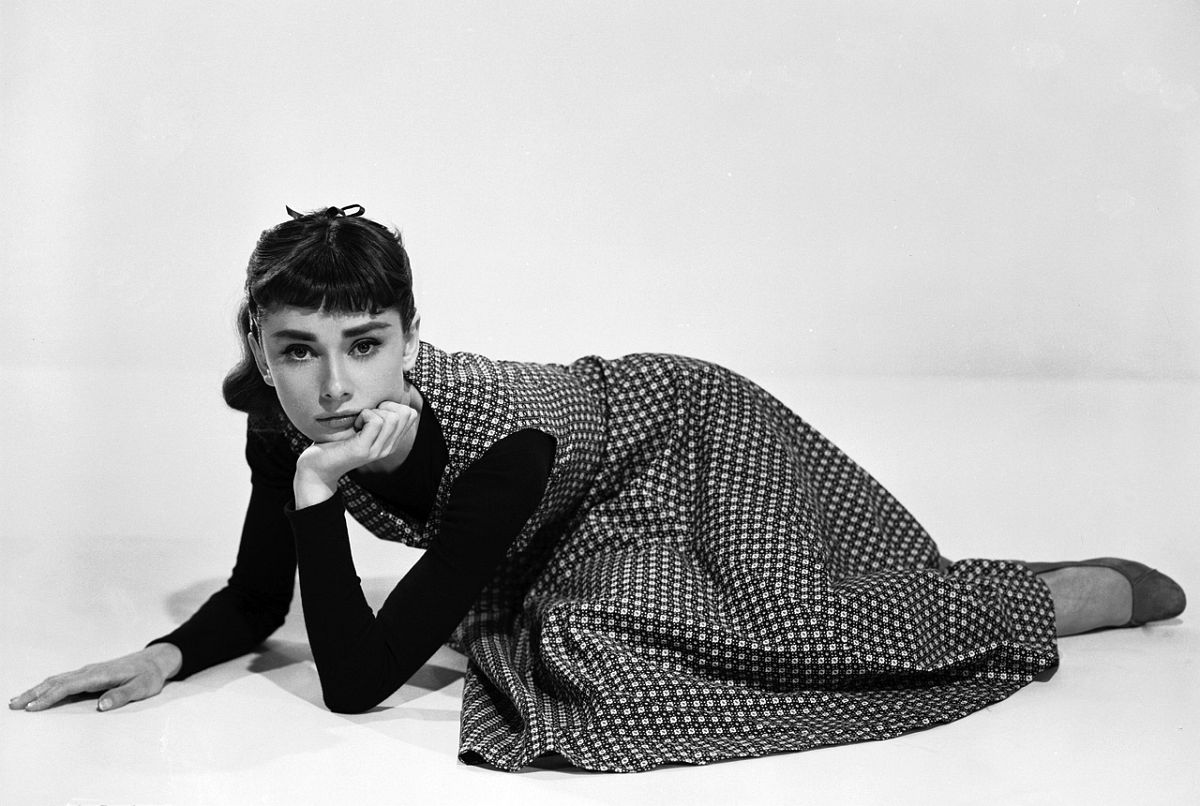 Behind the Scenes Photos of Audrey Hepburn from 'Sabrina' in 1954