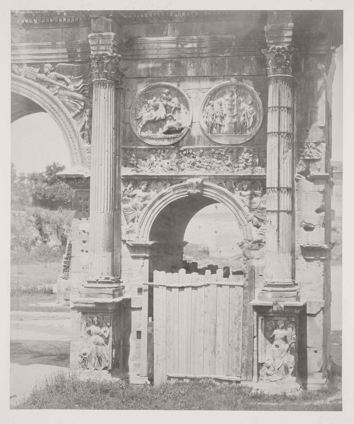 Arch of Constantine, Rome, 1860s.