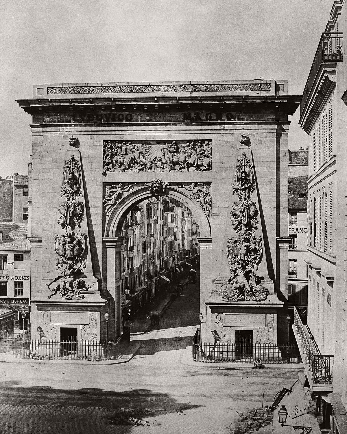 Porte St. Denis, 1860s.