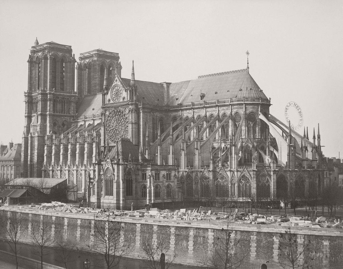 Paris - Opposite Notre Dame, 1858.