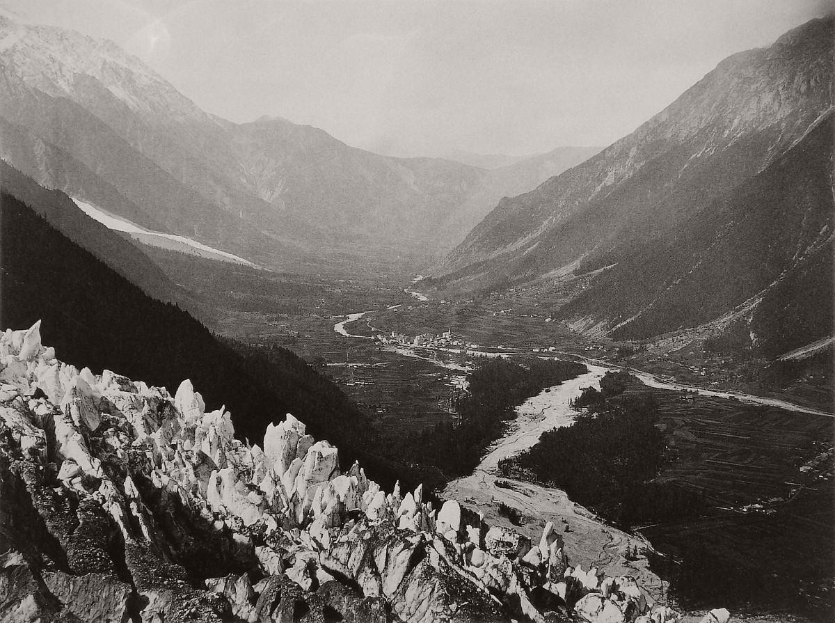 Valley of Chamonix seen from Le Chapeau, 1860.